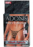 Adonis Mens Collection Mesh Pouch Leopard
