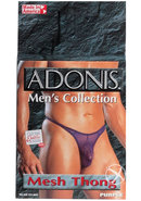 Adonis Mens Collection Mesh Thong Purple